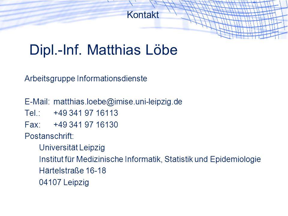 Dipl.-Inf. Matthias Löbe