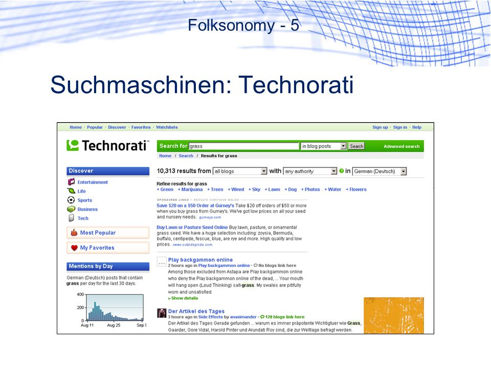 Suchmaschinen: Technorati