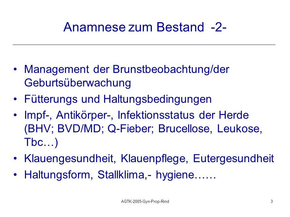 Anamnese zum Bestand -2-