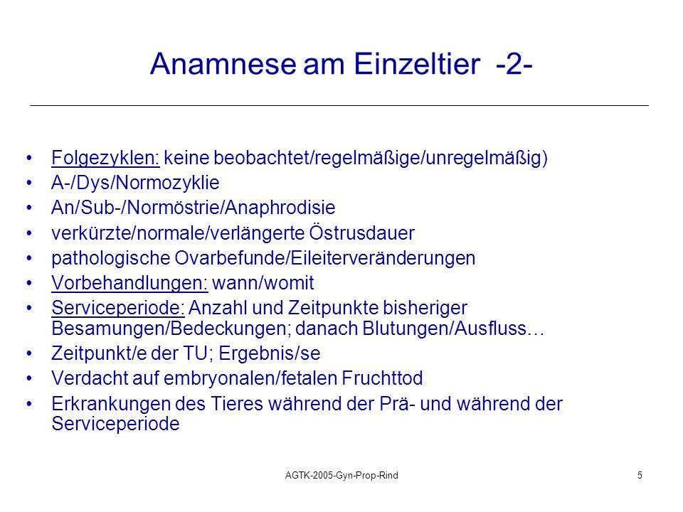 Anamnese am Einzeltier -2-