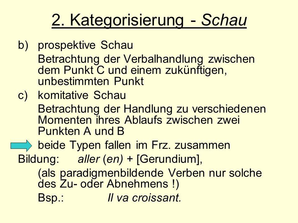 2. Kategorisierung - Schau