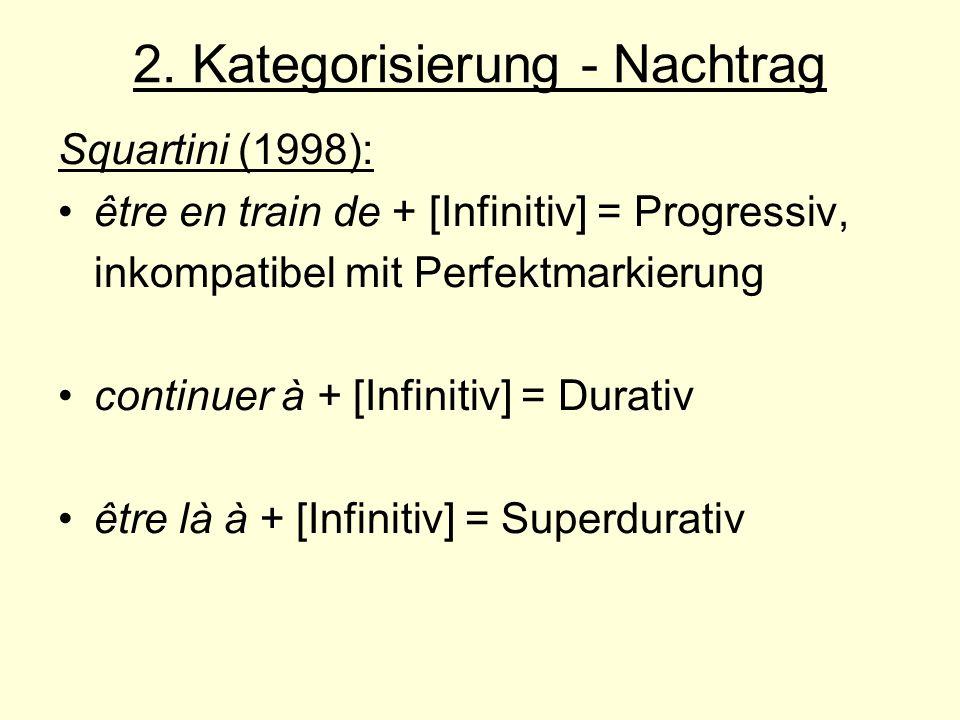 2. Kategorisierung - Nachtrag