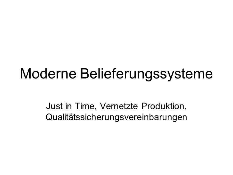 Moderne Belieferungssysteme