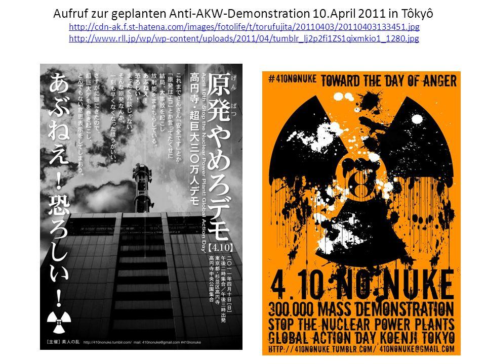 Aufruf zur geplanten Anti-AKW-Demonstration 10