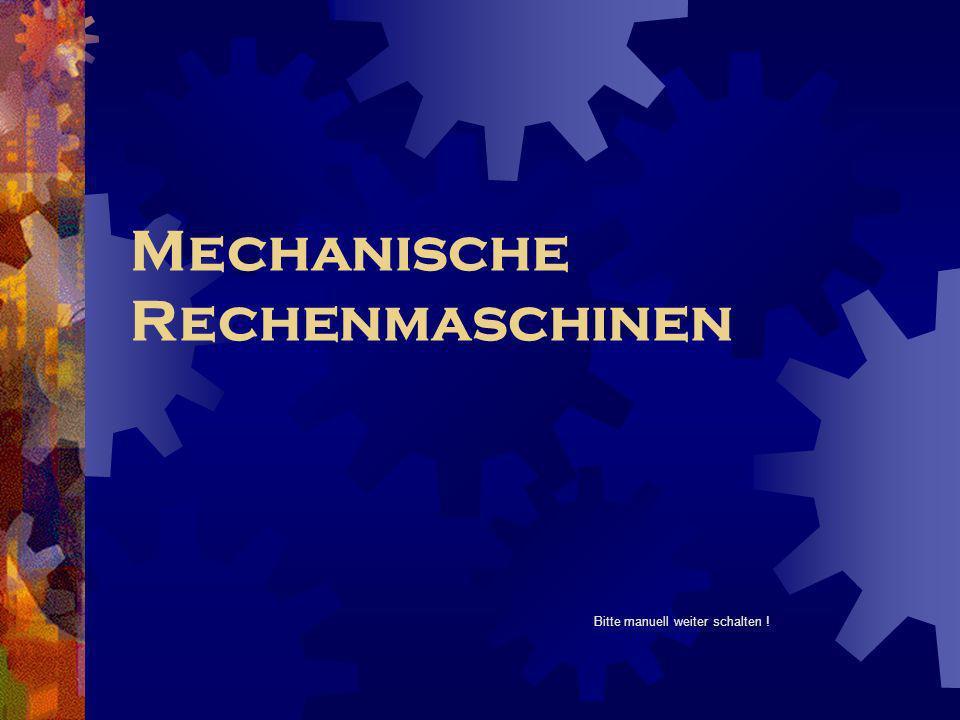 Mechanische Rechenmaschinen
