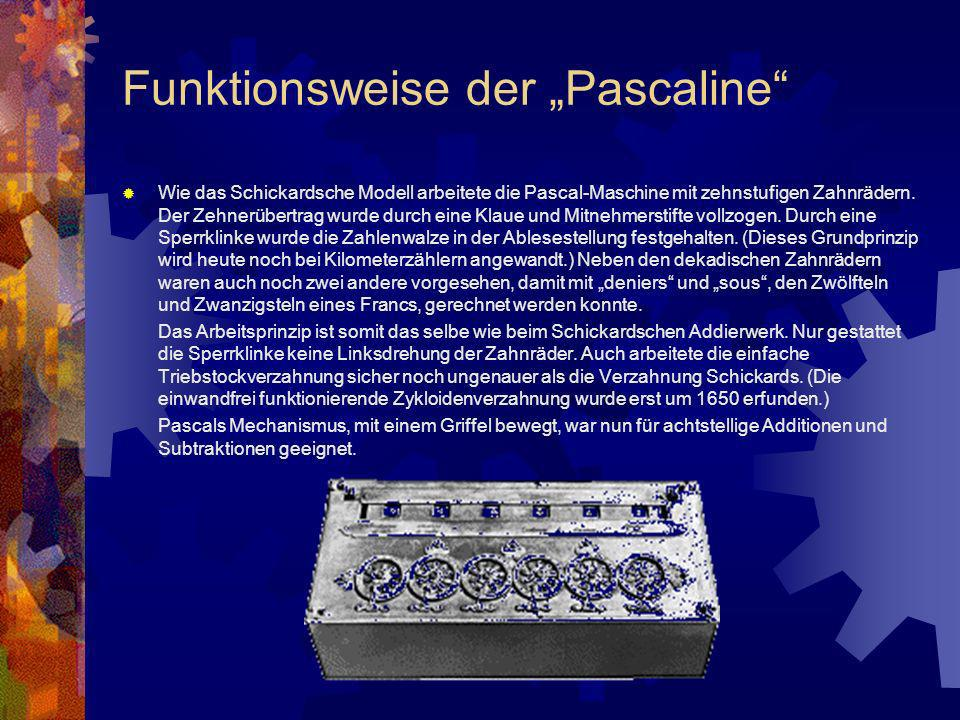 "Funktionsweise der ""Pascaline"