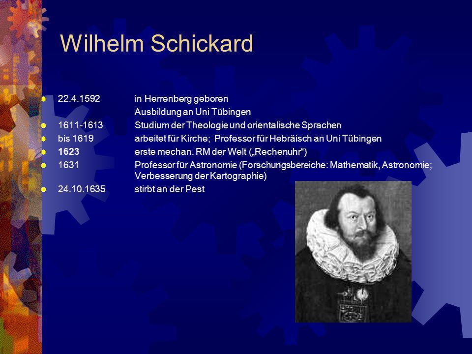 Wilhelm Schickard 22.4.1592 in Herrenberg geboren