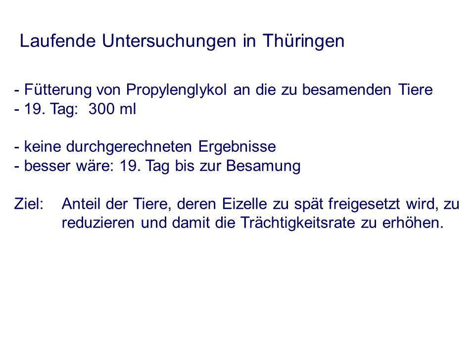 Laufende Untersuchungen in Thüringen