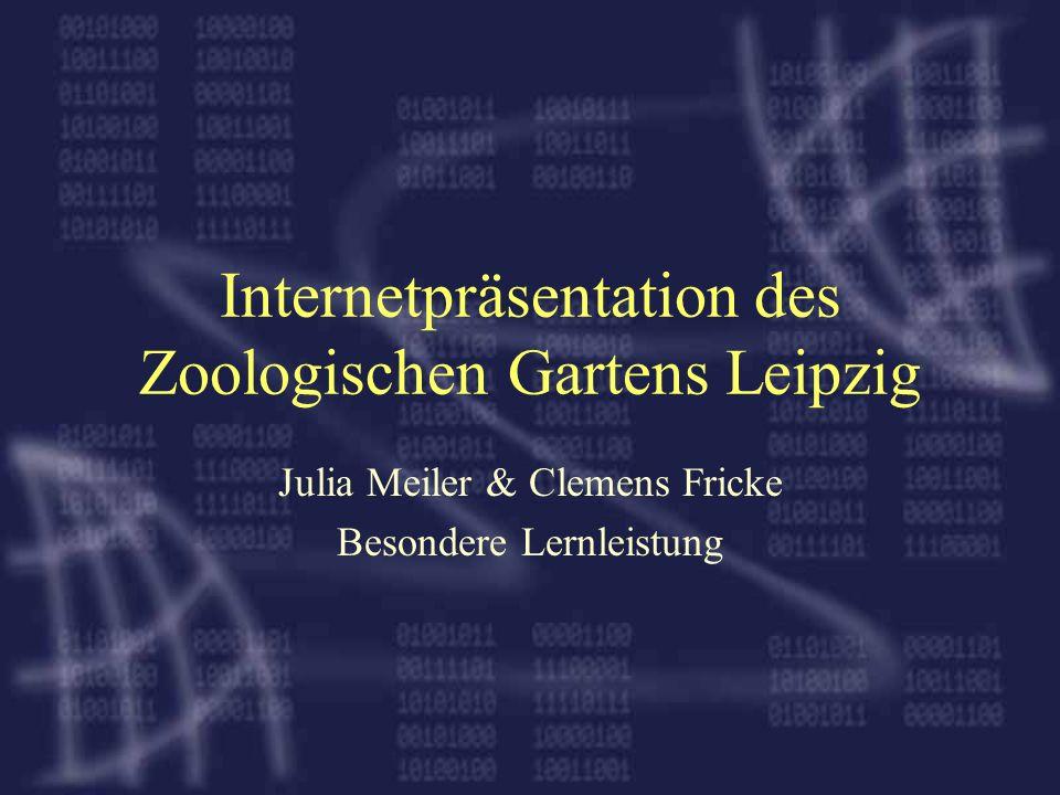 Internetpräsentation des Zoologischen Gartens Leipzig