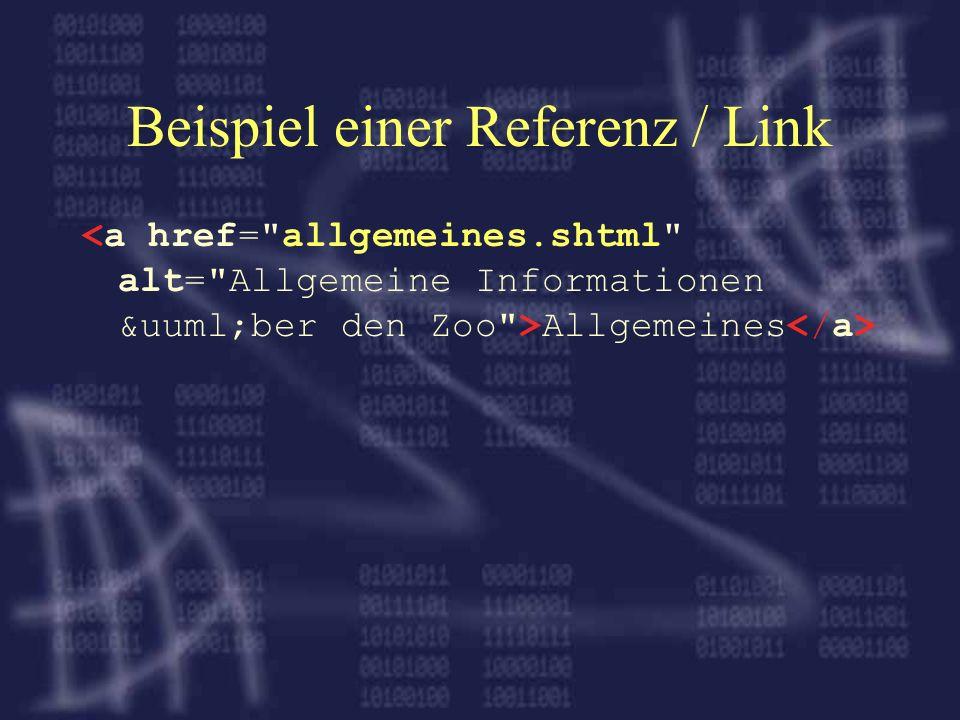 Beispiel einer Referenz / Link