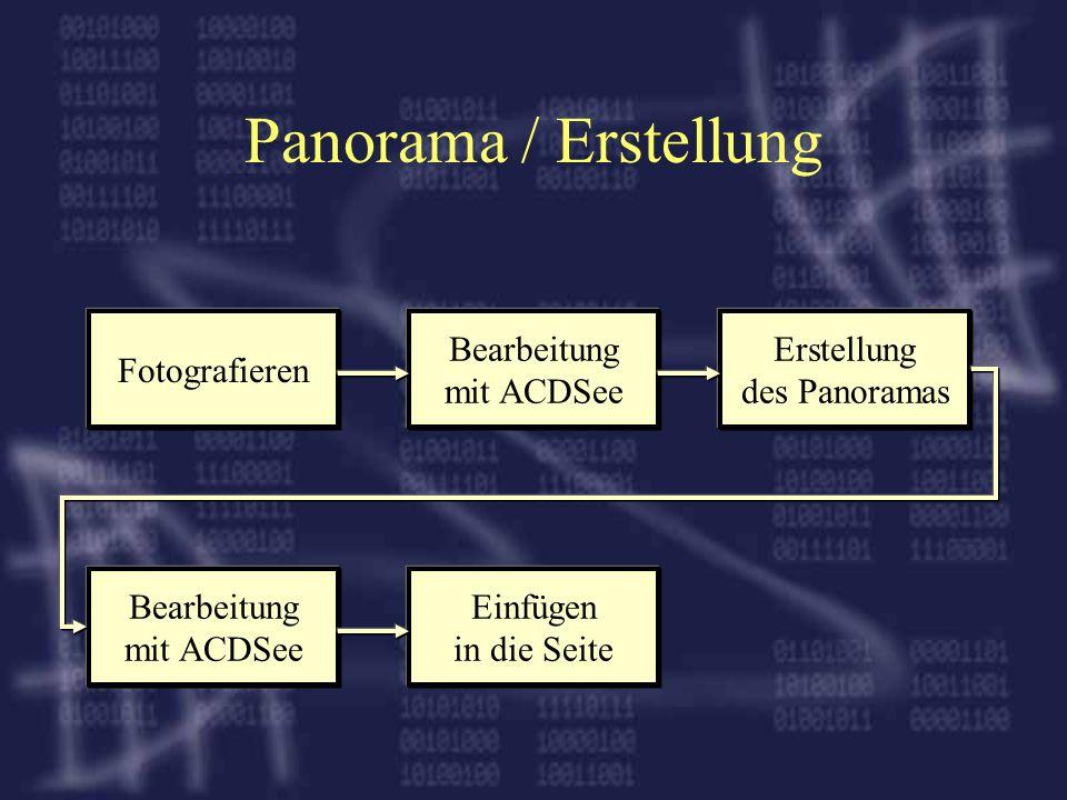 Panorama / Erstellung Fotografieren Bearbeitung mit ACDSee Erstellung
