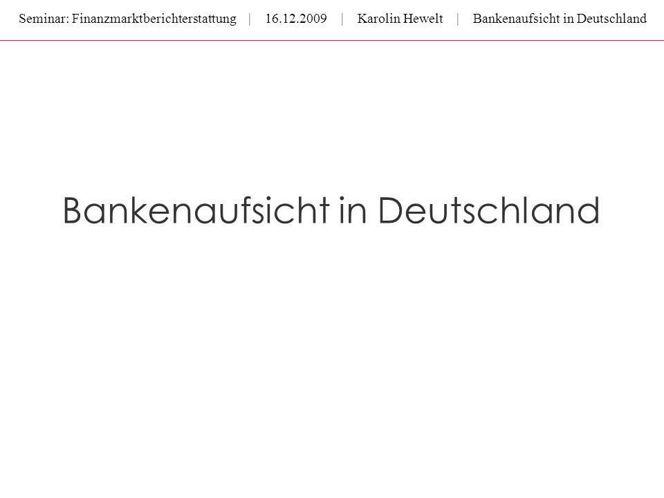 Bankenaufsicht in Deutschland
