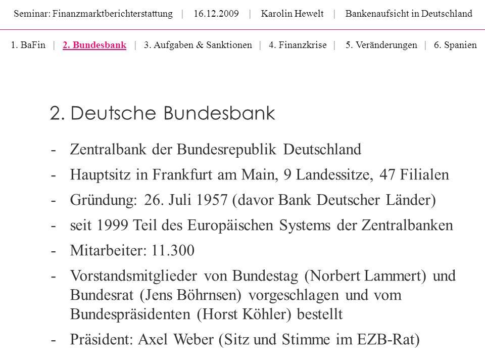 2. Deutsche Bundesbank Zentralbank der Bundesrepublik Deutschland