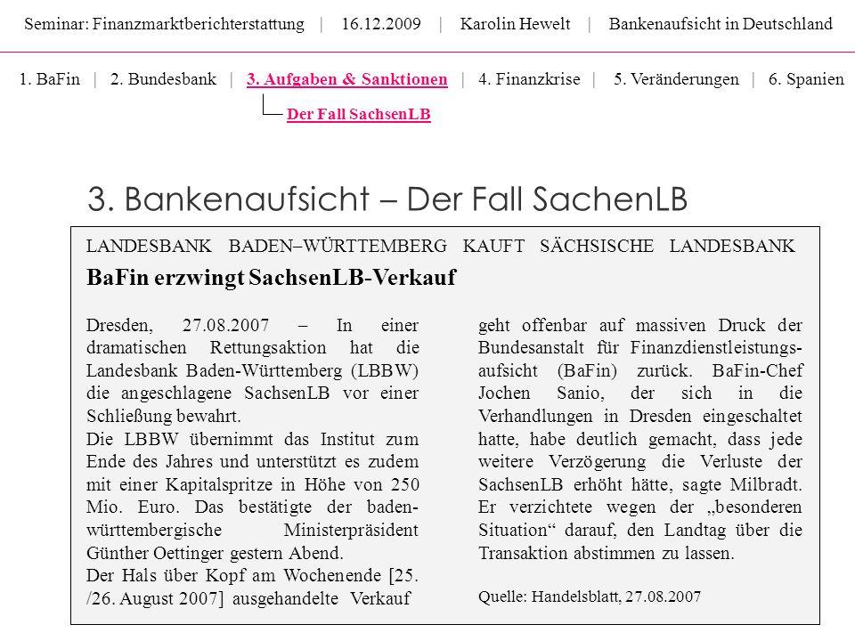 3. Bankenaufsicht – Der Fall SachenLB