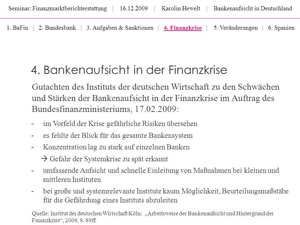 4. Bankenaufsicht in der Finanzkrise