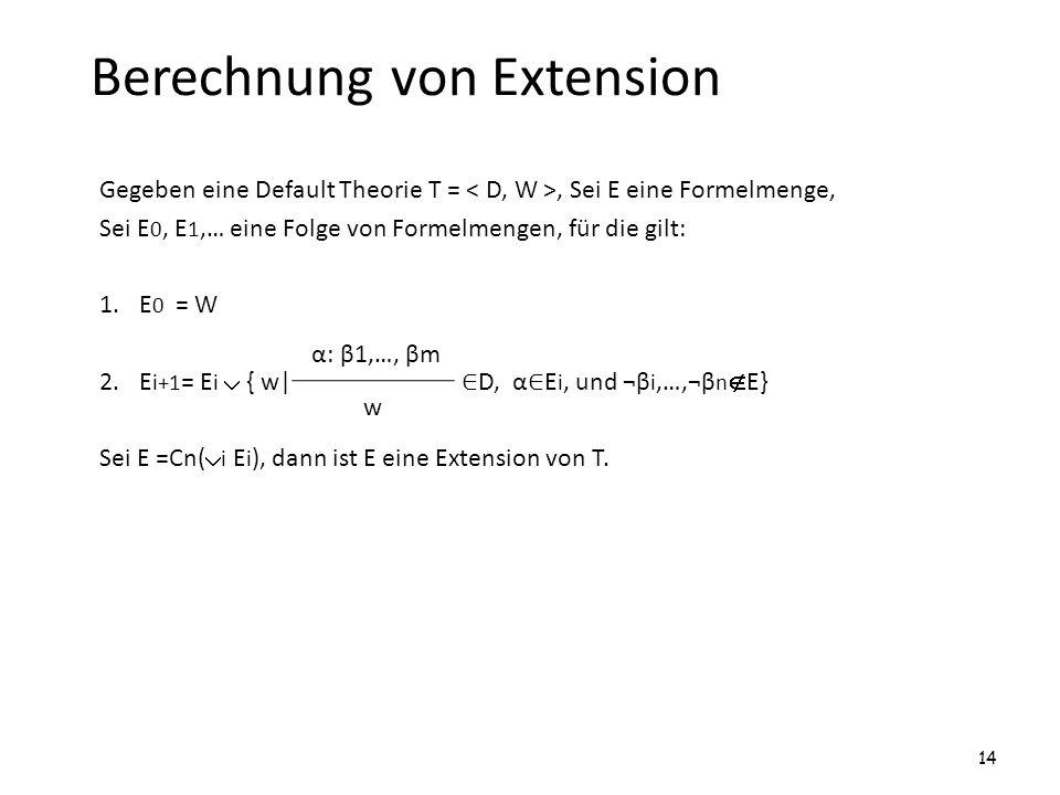 Berechnung von Extension
