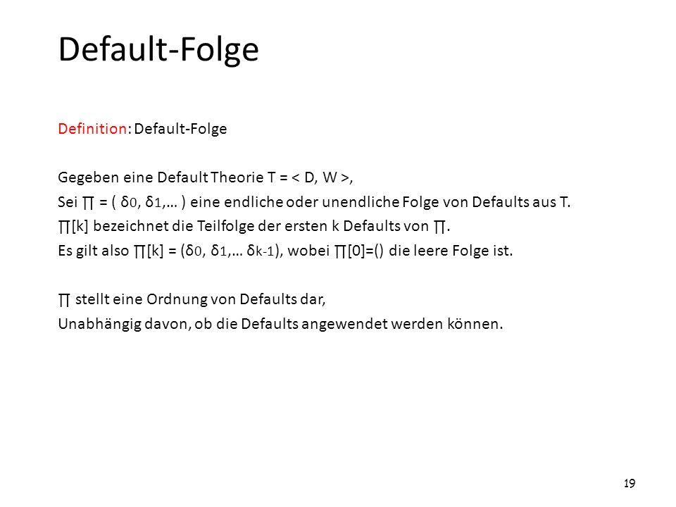 Default-Folge