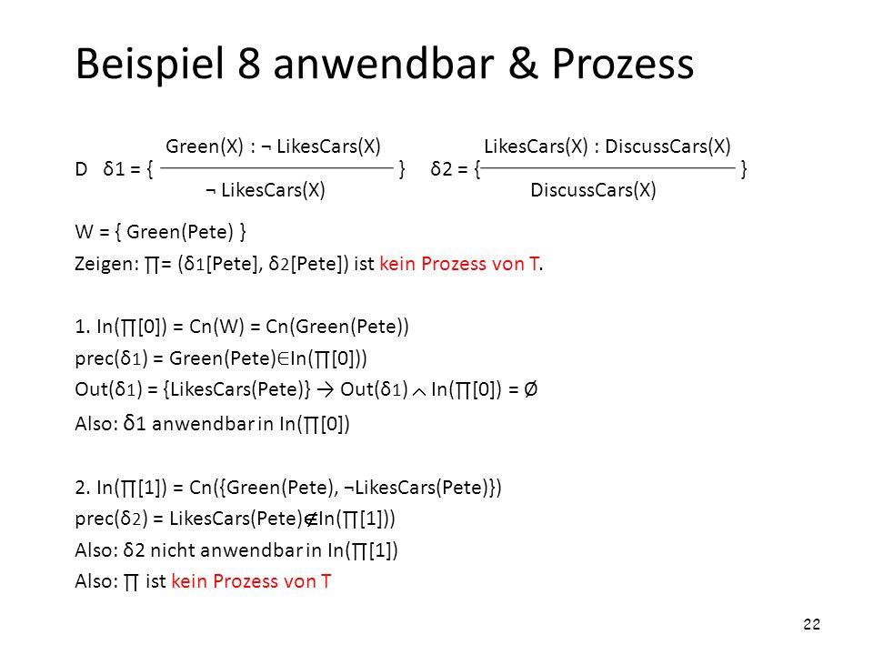 Beispiel 8 anwendbar & Prozess