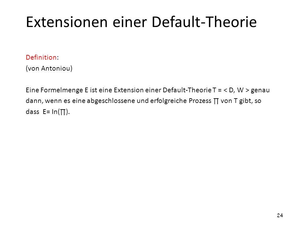 Extensionen einer Default-Theorie