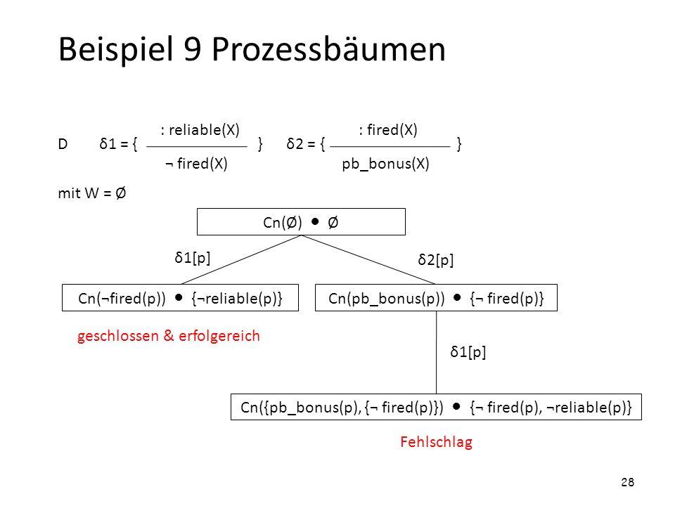 Beispiel 9 Prozessbäumen