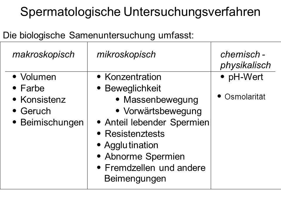 Spermatologische Untersuchungsverfahren