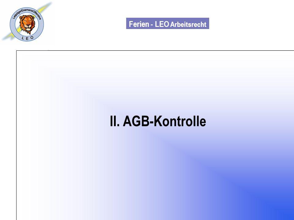 II. AGB-Kontrolle