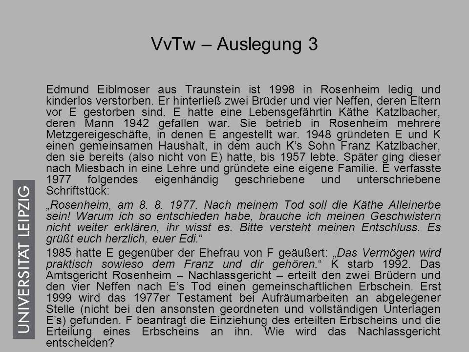 VvTw – Auslegung 3