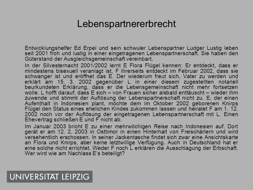 Lebenspartnererbrecht