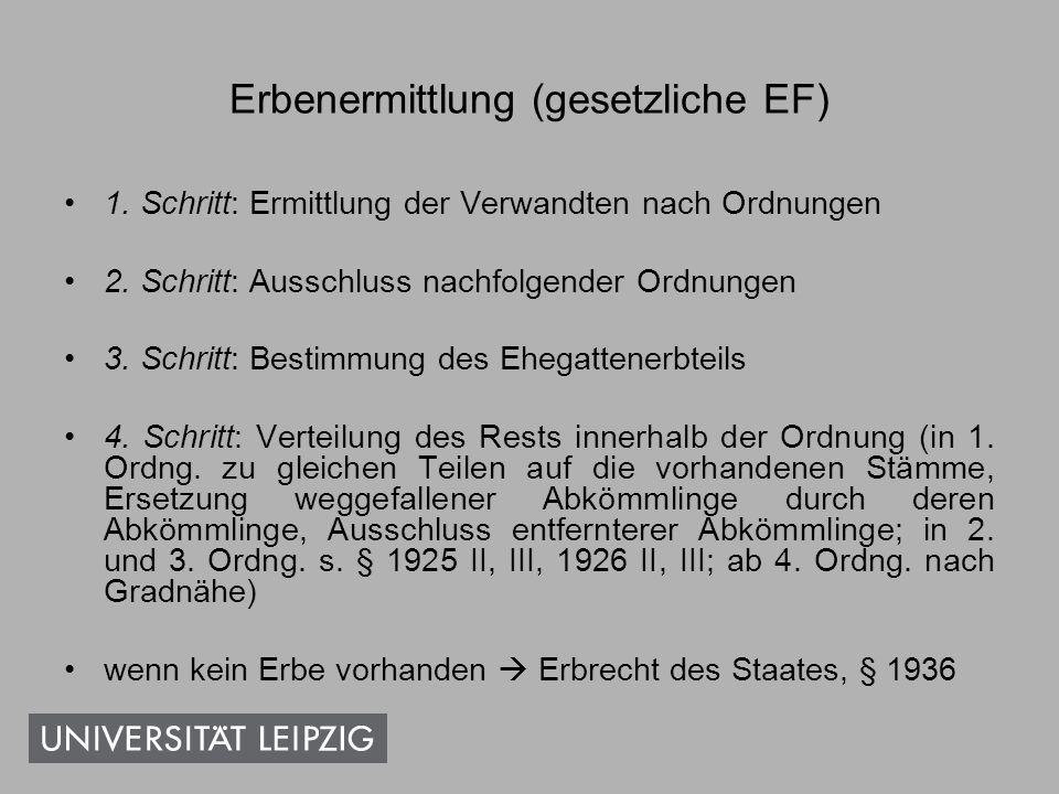 Erbenermittlung (gesetzliche EF)