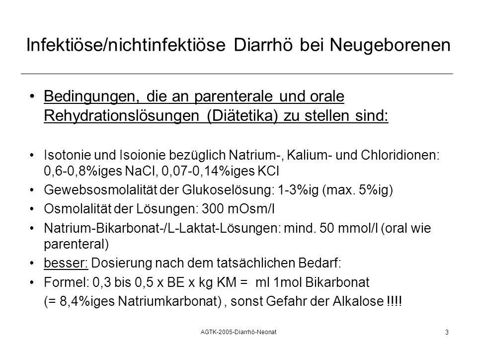 Infektiöse/nichtinfektiöse Diarrhö bei Neugeborenen