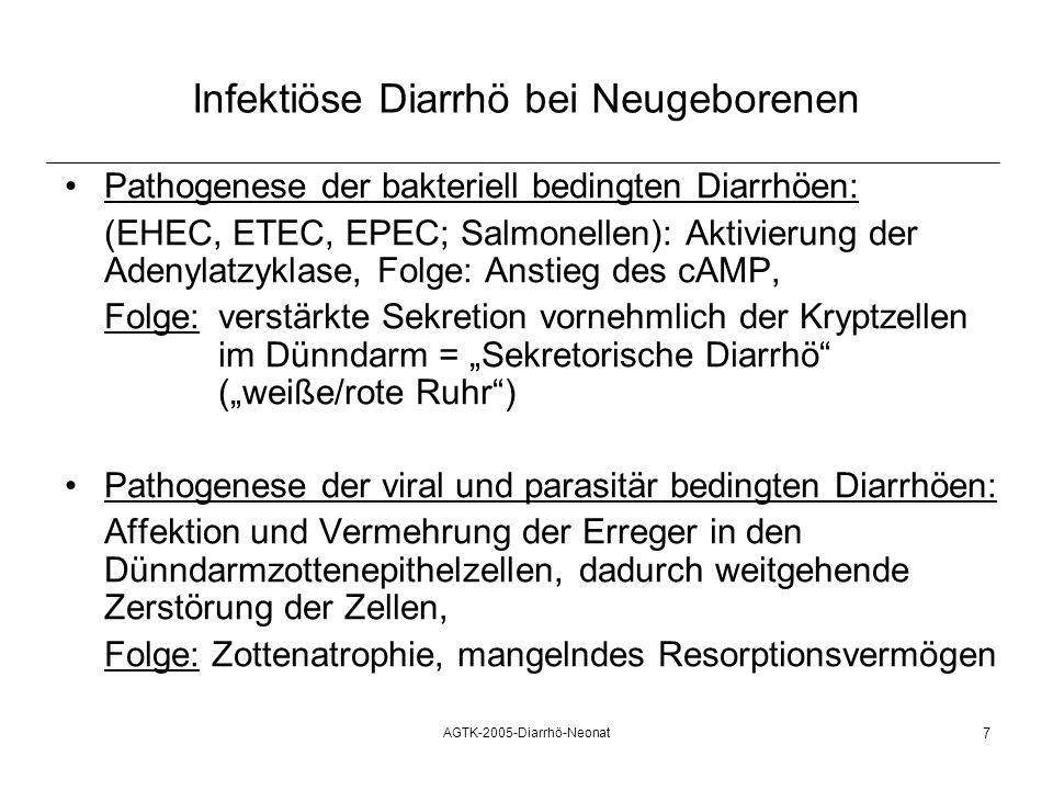 Infektiöse Diarrhö bei Neugeborenen