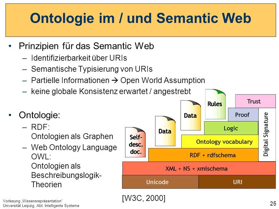 Ontologie im / und Semantic Web