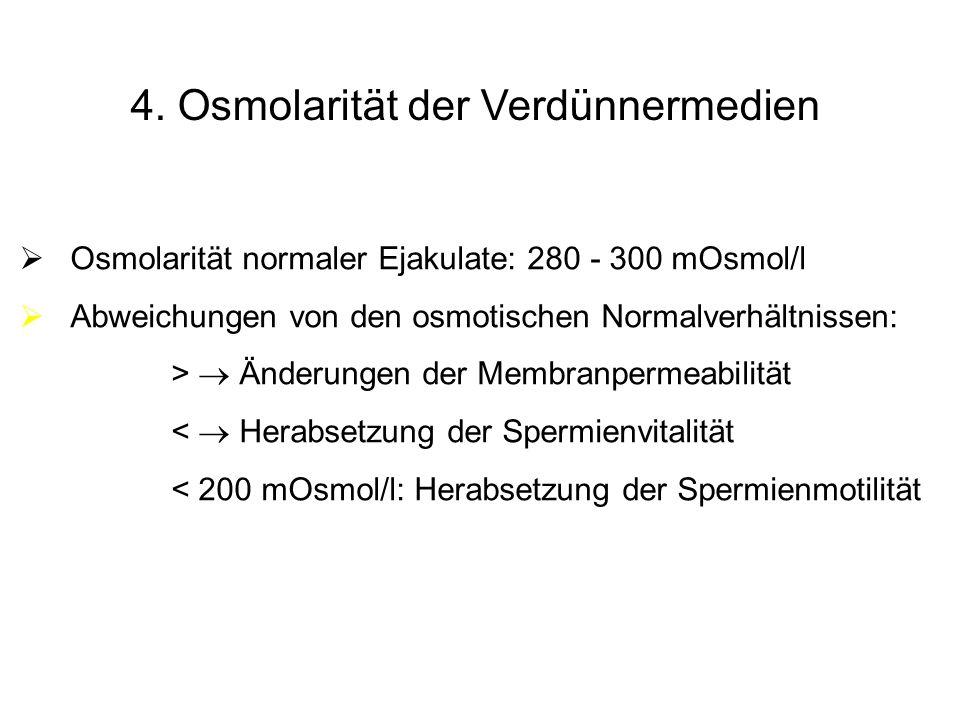 4. Osmolarität der Verdünnermedien