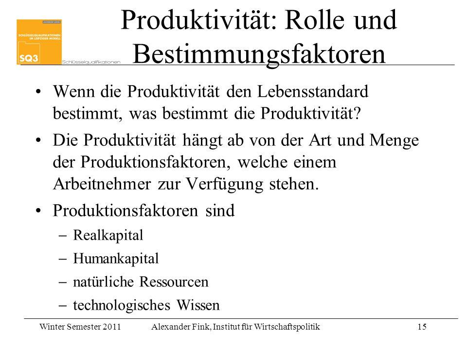 Produktivität: Rolle und Bestimmungsfaktoren