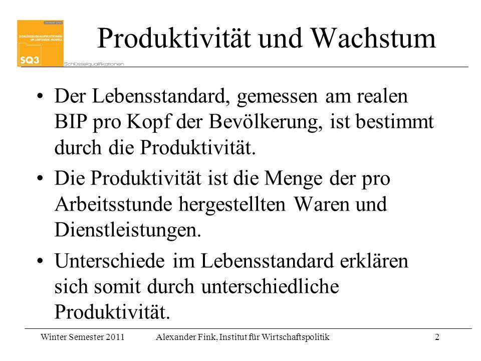 Produktivität und Wachstum