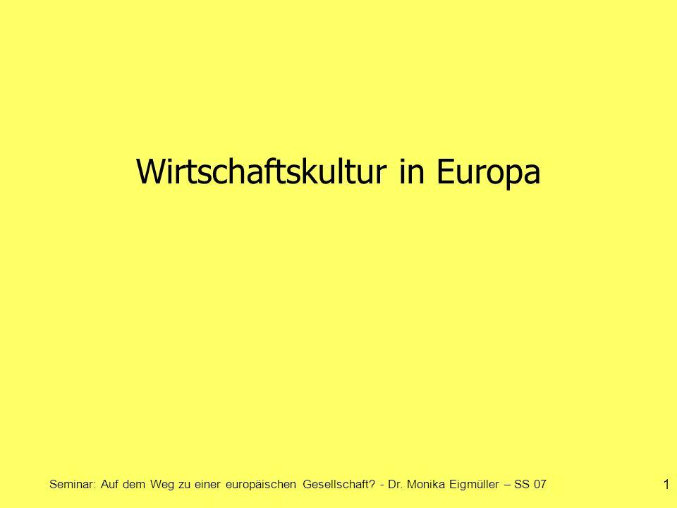 Wirtschaftskultur in Europa
