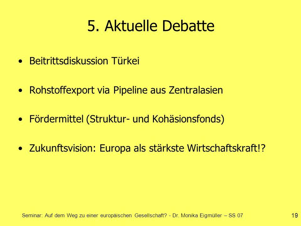 5. Aktuelle Debatte Beitrittsdiskussion Türkei