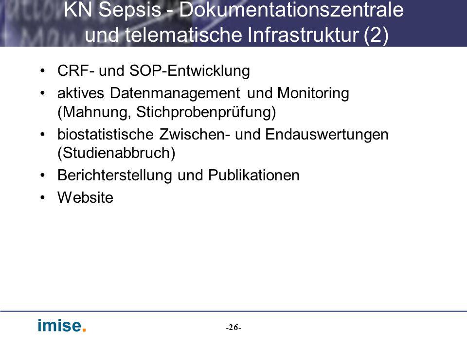 KN Sepsis - Dokumentationszentrale und telematische Infrastruktur (2)