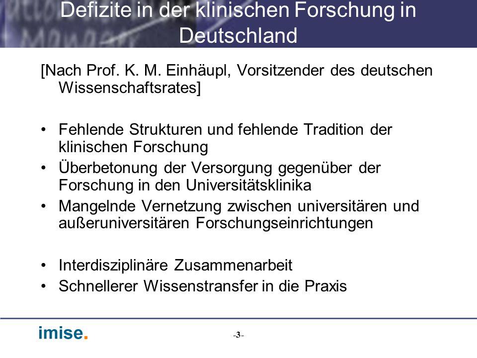 Defizite in der klinischen Forschung in Deutschland