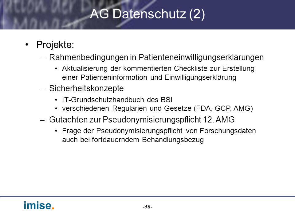AG Datenschutz (2) Projekte: