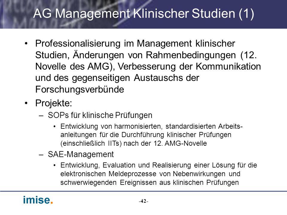 AG Management Klinischer Studien (1)
