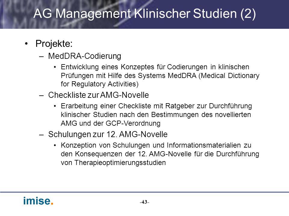 AG Management Klinischer Studien (2)
