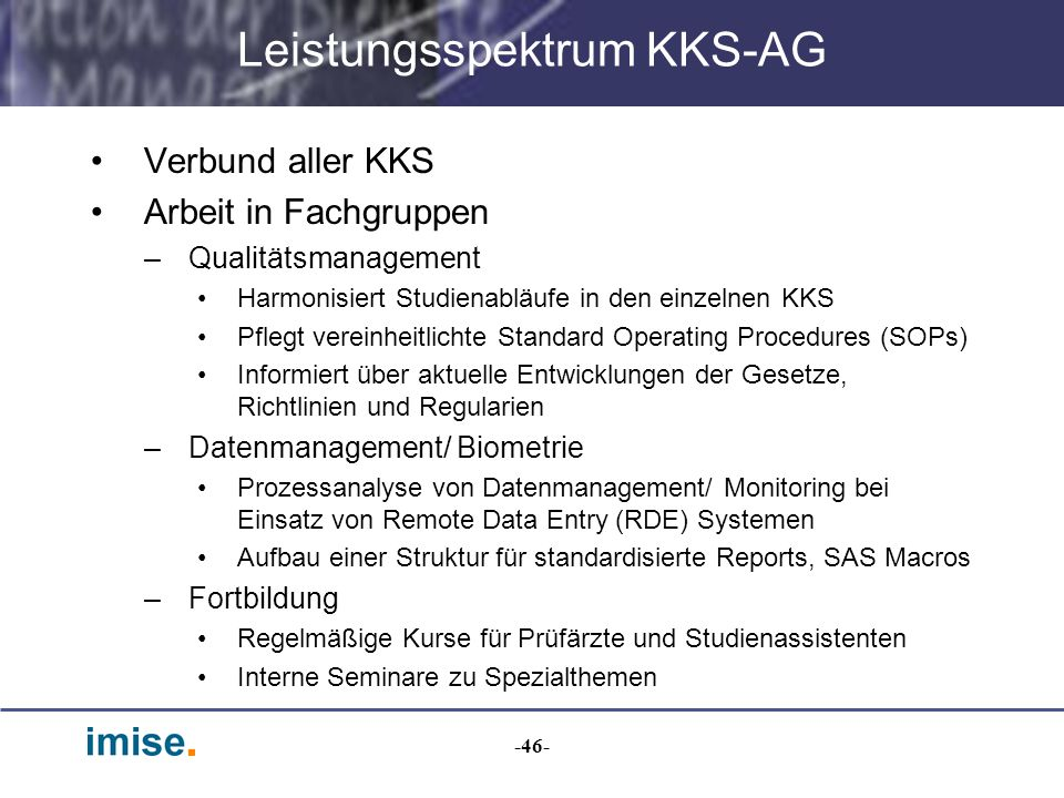 Leistungsspektrum KKS-AG