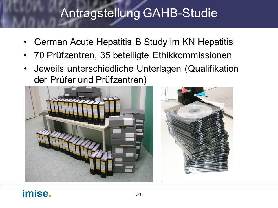 Antragstellung GAHB-Studie