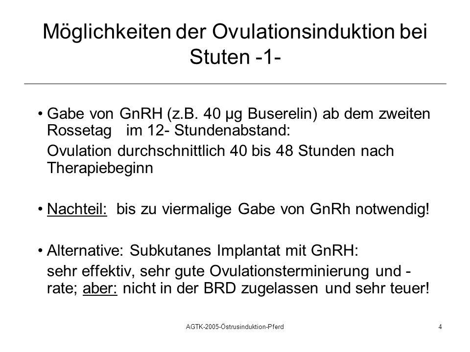 Möglichkeiten der Ovulationsinduktion bei Stuten -1-