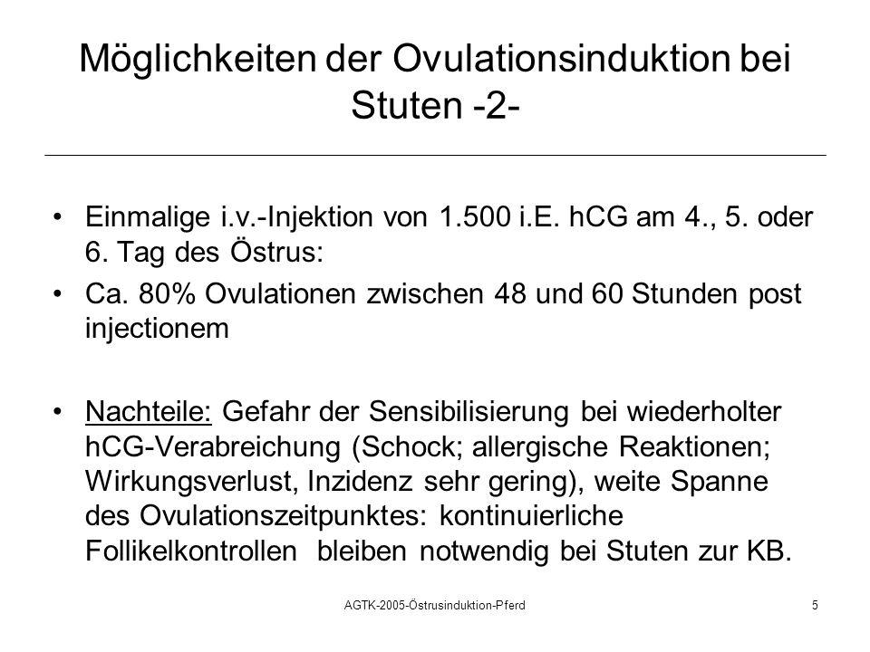 Möglichkeiten der Ovulationsinduktion bei Stuten -2-