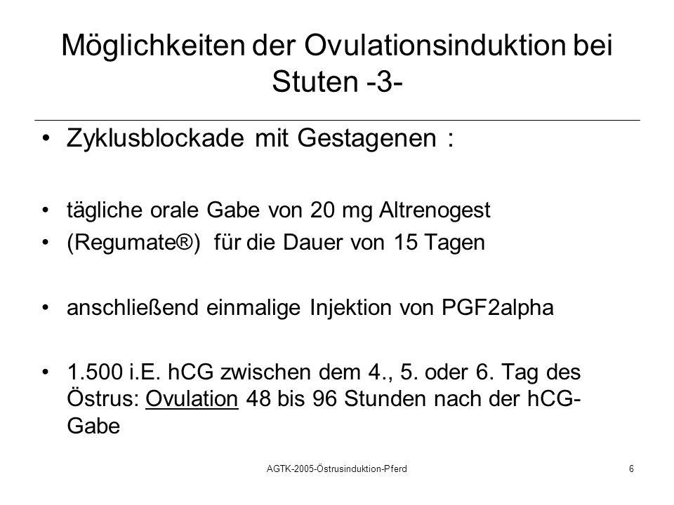 Möglichkeiten der Ovulationsinduktion bei Stuten -3-