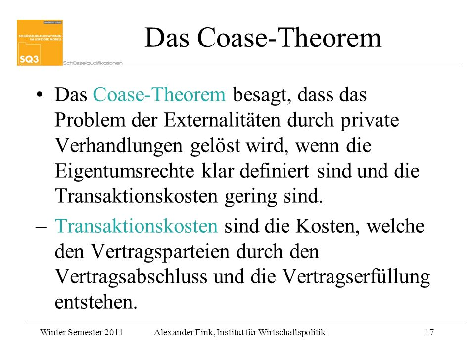 Das Coase-Theorem