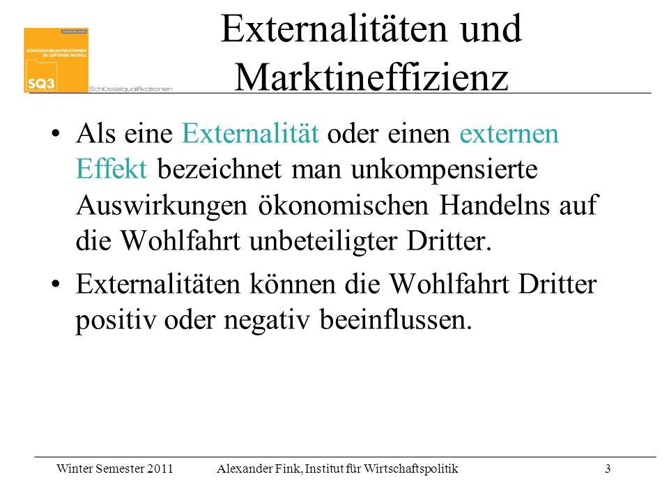 Externalitäten und Marktineffizienz