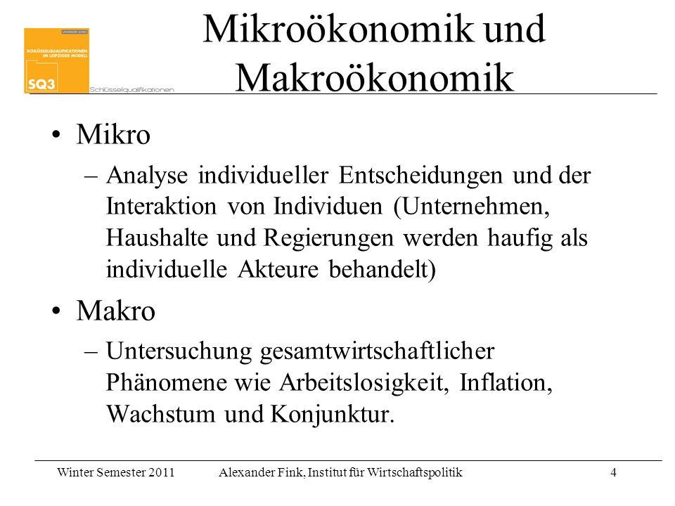 Mikroökonomik und Makroökonomik